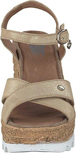 Shoot Shoes SH-163060 Damen Keil Plateau Chunky Sommer Sandale in 2 Farben (39, Soul (beige))