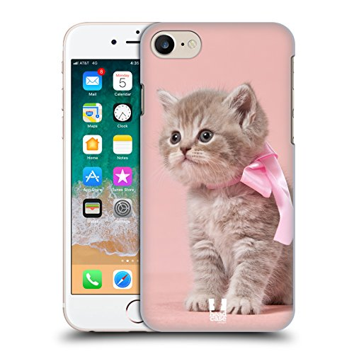 Case+Stand Ultra-thin Polycarbonate Protector Fits Apple iPhone 6/6S/7/7S/8 Hard snap on Back Cover Pink Cute Cat/Kitty/Kitten with ()
