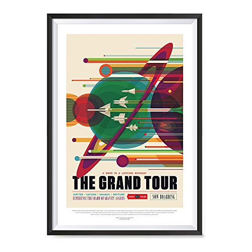 EzPosterPrints - Visions of The Future, NASA Space Tourism Posters - Amazing NASA Art Print for School, Kids Room,Home Office Decor - Grand Tour - 24X36 inches