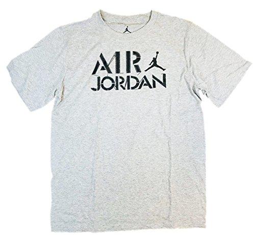 NIKE Air Jordan Big Boys 8-20 Jumpman Short Sleeve Tee Shirt (Dark Grey Heather, Medium) by NIKE