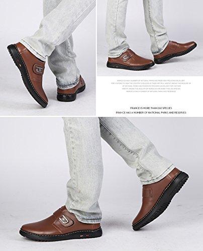 Hombres Sandalias Zapatos thefourseasonslaceBrown2101 Zapatos Fuera Zapatos De Cuero Transpirables Nuevas Crocs Verano De XIAOLONGY Hombres Fresco Casuales fw5TzqqB