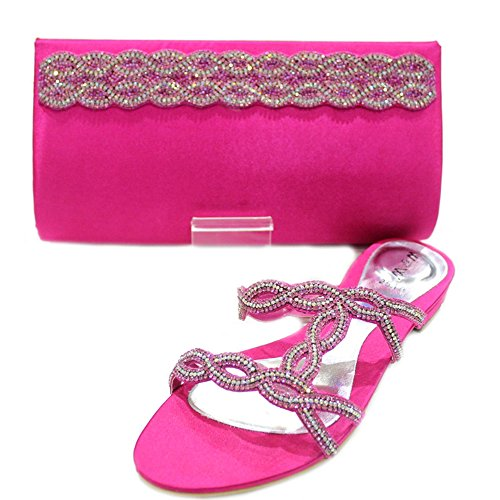 Wear & Walk UK - Sandalias de vestir de Material Sintético para mujer Rosa - fucsia
