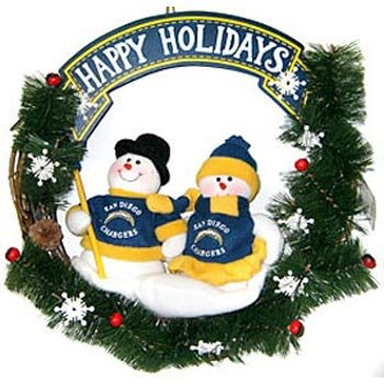 San Diego Chargers Official NFL 20 inch Team Snowman Wreath by SC Sports ()