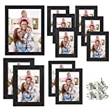 Giftgarden Multi Wall Frames Set Wooden Picture Frame for Multiple Sizes 11 PCS