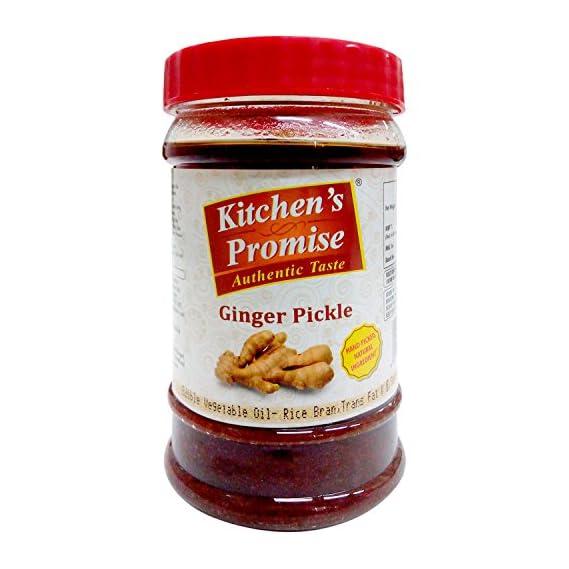Kitchen's Promise Pickle - Ginger, 300g Jar