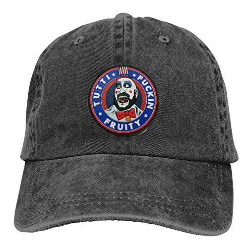 Vdaras Captain Spaulding Mens Hat Baseball Caps Cowboy Hat Black