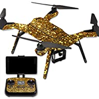 MightySkins Protective Vinyl Skin Decal for 3DR Solo Drone Quadcopter wrap cover sticker skins Gold Glitter
