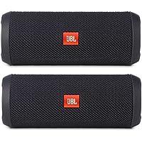 JBL Flip 3 Portable Wireless Bluetooth Speaker Pair (Black)