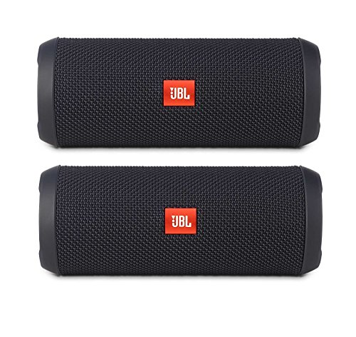Click to buy JBL Flip 3 Portable Wireless Bluetooth Speaker Pair (Black) - From only $158