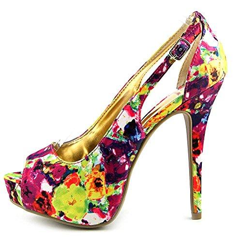 80s Material Girl - Zapatos de vestir para mujer Floral