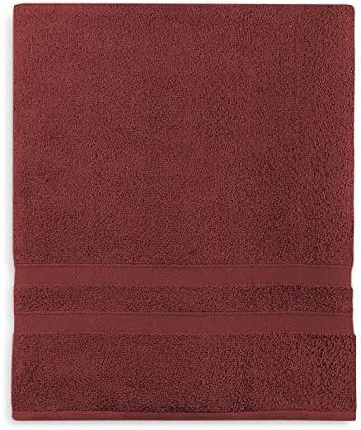 "Wamsutta 16/"" x 30/"" Micro Cotton Hand Towel In Garnet Set Of 2"