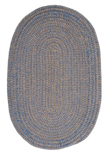 Softex Check Sample Swatch Rug, Blue Ice Check