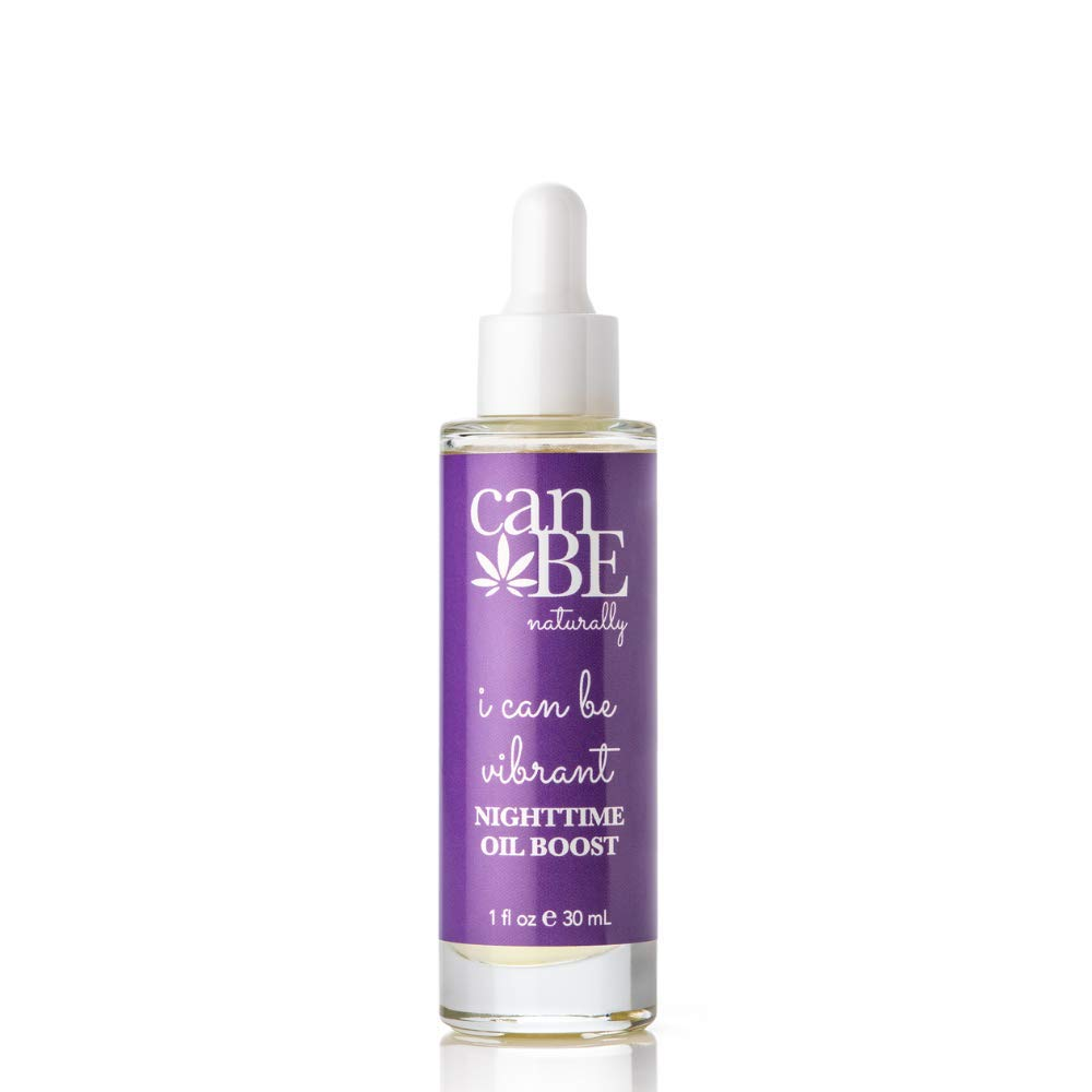 canBE naturally i can be vibrant NIGHTTIME OIL BOOST, Facial Oil Serum w/Hemp Seed Oil and Cranberry Extract, Nourishing Face Oil for All Skin Types, Without Parabens, Sulfates, Phthalates (1 fl oz)
