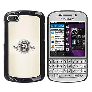 LASTONE PHONE CASE / Carcasa Funda Prima Delgada SLIM Casa Carcasa Funda Case Bandera Cover Armor Shell para BlackBerry Q10 / M Logo Slogan Shield Retro Plumbing