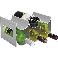 mDesign Práctico estante para botellas de vino