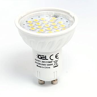 GEL 4X GU10 1.5 W Bombilla LED,Bombillas LED,21SMD,Proyector de pl