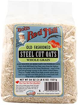 Oatmeal: Bob's Red Mill Old Fashioned Steel Cut Oats