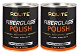 Rolite Fiberglass Polish (2lb) Removing Water Spots, Staining, Oxidation & Hairline Scratches from Boats, Clearcoat, Acrylic and Polycarbonate 2 Pack
