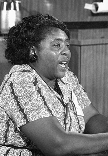 Fannie Lou Hamer (1917-1977) Namerican Civil Rights Activist Speaking As A Member Of The Mississippi Freedom Democratic Party At The Democratic National Convention In Atlantic City New Jersey August 1 -