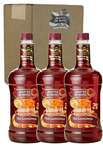 Master of Mixes Old Fashioned Drink Mix, Ready To Use, 1.75 Liter Bottle (59.2 Fl Oz), Pack of (Drinks For A Halloween Party Non Alcoholic)