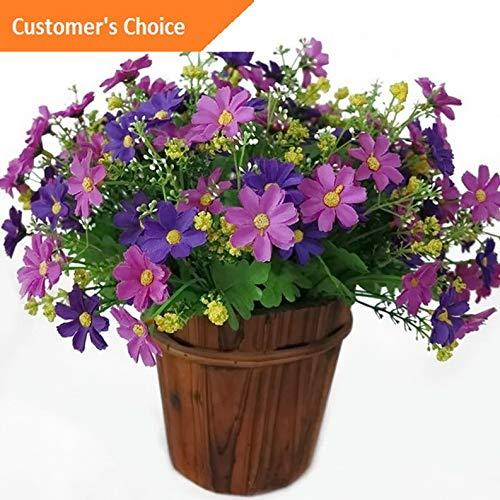 (Hebel 2 Bunch 28 Heads Artifical Silk Chrysanthemum Flower Bouquet Home Wedding Decor   Model ARTFCL - 996  )