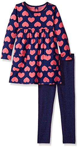 Gerber Baby Girls' Dress and Legging Set, Hearts, Newborn
