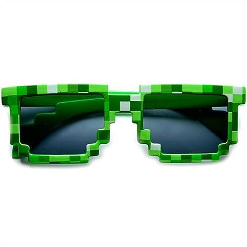 8-Bit Pixel Retro Novelty Gamer Geek Sunglasses