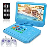 Electronics : WONNIE 9.5 Inch Kids Portable DVD Player for Car with Games Function, USB/SD Slot (Blue)