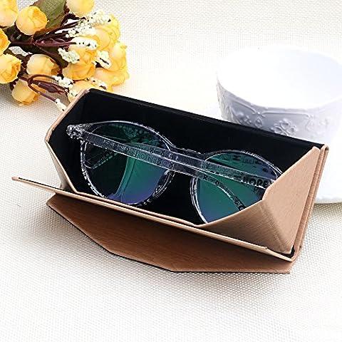 NNDA CO 1PC New Light Triangular Fold Case for Glasses Eyeglass Sunglasses Case,Leather (Original (Aluminum Case Sunglasses)