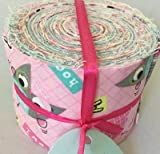 20 Piece JELLY ROLL - Owl Fabric Quilting Patchwork Quilting Bundle - 100% Cotton offers