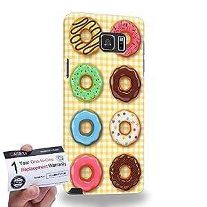 Case88 [Samsung Galaxy Note 5] 3D impresa Carcasa/Funda dura para & Tarjeta de garantía - Art Sweets Pattern Donut Party C Donut Assorted