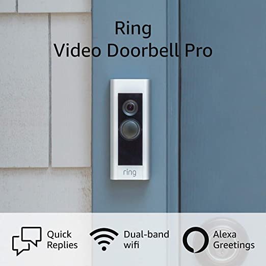 Ring Video Doorbell Pro – Upgraded, with added security features and a sleek design (existing doorbell wiring required) | Amazon