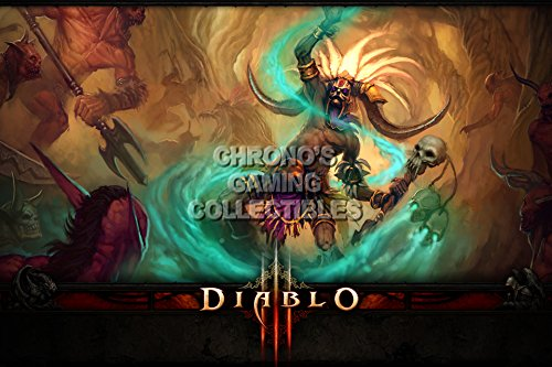 Diablo CGC Huge Poster Glossy Finish III PS3 PS4 Xbox 360 ONE - Class Witch Doctor - DIA016 (24