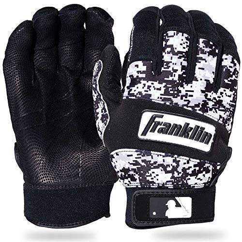 Franklin Sports MLB Adult Cold Weather Pro Batting Glove, Pair, X-Large, Black/White Digital Camo