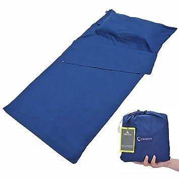 LUSHANG Cabaña Saco de Dormir Dormir para Interior de Microfibra Grande Fácil: Amazon.es: Deportes y aire libre