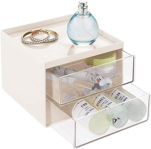 mDesign Organizador de maquillaje – Caja de almacenamiento ...