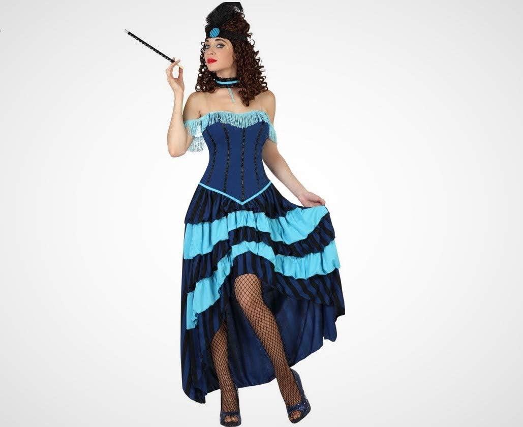 Atosa-57564 Atosa-57564-Disfraz Cabaret-Adulto Mujer, Color azul ...