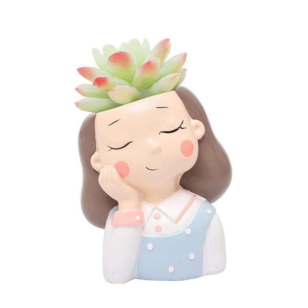 macetas de Flores para ni/ñas Oficina Festival Womdee Macetas de Flores para Mujer jard/ín Regalo Escritorio macetas Bonitas para el hogar decoraci/ón de Mini Adorno de cumplea/ños