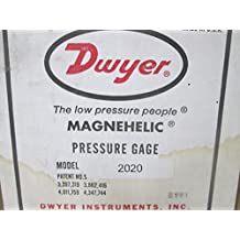 """Dwyer 2020 Magnehelic Differential Pressure Gauge, Type , 0 to 20"""" WC"""