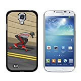 Graphics and More Longboarding Skateboarding Longboard Snap-On Hard Protective Case for Samsung Galaxy S4 - Non-Retail Packaging - Black