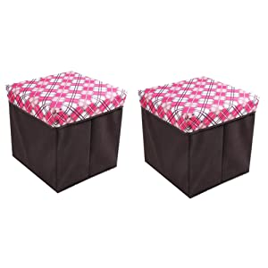 Doraemon Polyester Blend Easy Carry Storage/Collapsible Folding Stool for Living Room, Standard, Red