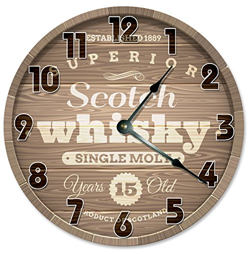 scotch-whiskey-clock-decorative-round-wall-clock-home-decor-large-105-barrel-casket-crate-printed-wo