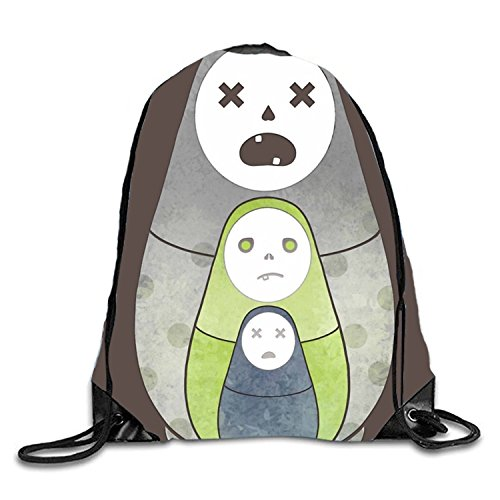 Zombie Nesting Dolls By Drawstring Backpack Travel Rucksack Shoulder Bags Fashion Gym -