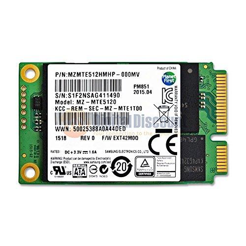 Samsung 512GB PM851 50mm SATA III (6G) mSATA SSD Solid State Drive - MZMTE512HMHP