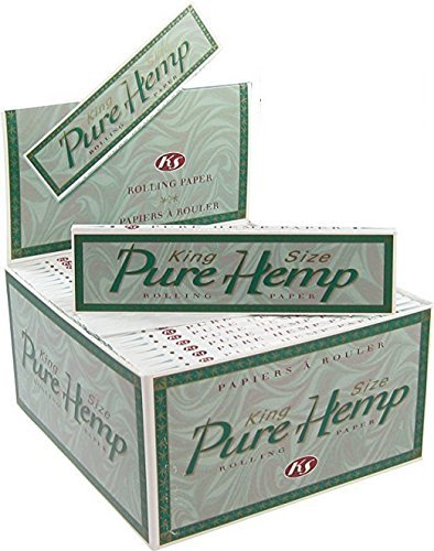 6 Pure Hemp King Size Tree Free Eco 100% Hemp Natural Gum Cigarette Rolling Papers Packs (33 Leaves/Pack) + Beamer Smoke Sticker. For Legal Smoking Herbs, Rolling Tobacco, Cones, Herbal Mixes,Rollers (Blunt Wraps Roller)