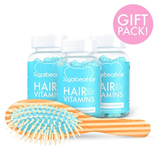 SugarBearHair Vitamins (3 Month Gift Pack Free Brush) by SugarBearHair (Image #2)