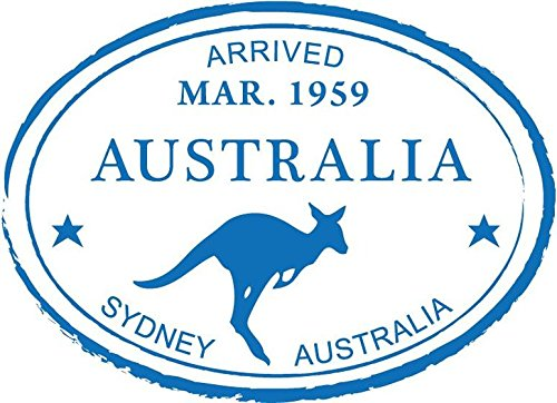 Zirni Sydney Australia Kangaroo Travel Retro Adventure Passport Stamp Sticker Decal Design 5