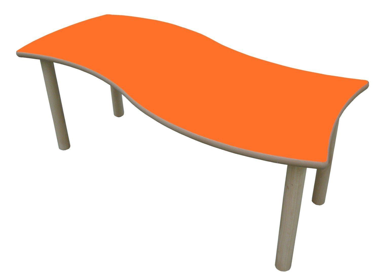 orden ahora disfrutar de gran descuento Mobeduc Mesa Infantil Infantil Infantil Rectangular Onda (Talla 1), Haya, Haya y Naranja, 120 x 60 cm  punto de venta barato