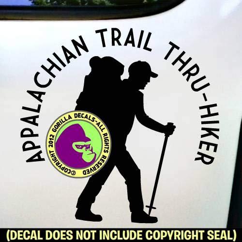 APPALACHIAN TRAIL THRU HIKER Hiking Love AT Hike Vinyl Decal Sticker D