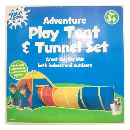 Fun & Leisure Adventure Play Tent and Tunnel Set *2 Piece* Indoor Outdoor TOY by Fun & Leisure